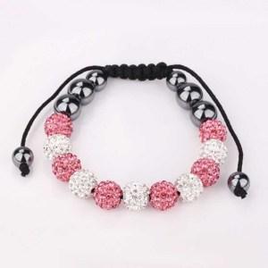 bracelet-shamballa-pink-white