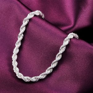 factory-wholesale-Beautiful-fashion-Elegant-plated-silver-charm-Rope-Lovely-Bracelet-Top-quality-Gorgeous-jewelry-H207
