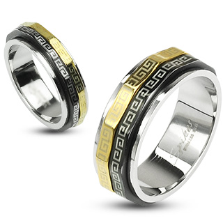 ring-mens-stainless-steel-black-gold-IP-maze-dual-spinner