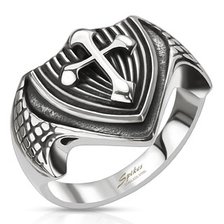ring-mens-stainless-steel-dragon-wing-cross-shield-band-cast