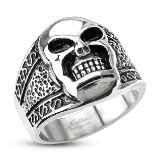 ring-mens-stainless-steel-wide-band-tribal-decorated-skull