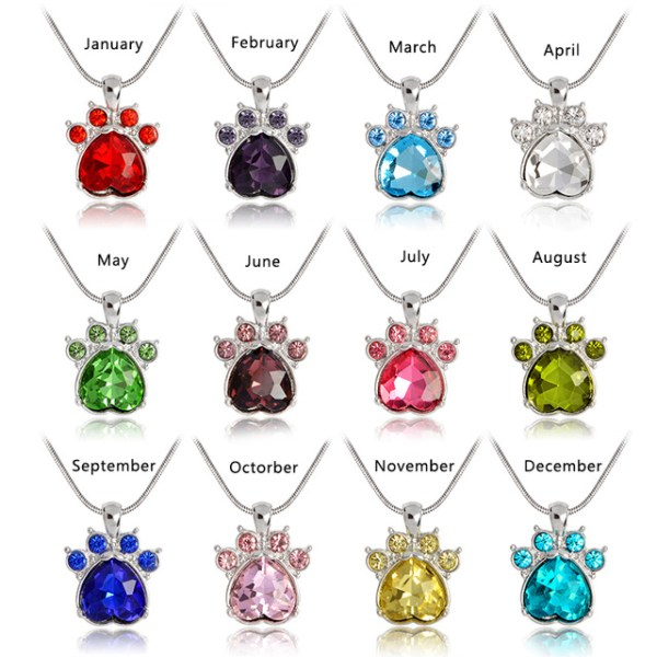 Birthstone-Paw-Print-Pendant-Necklace-Snake-Chain-Red-Blue-White-Green-Pink-Yellow-Purple-Animal-Pet_jpg_640x640