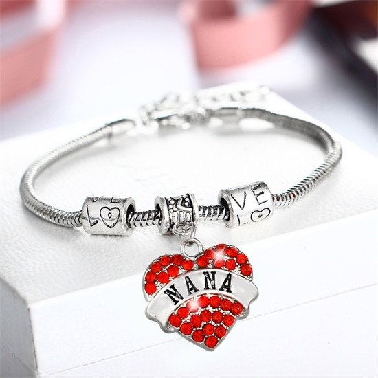 Charm-Bracelet-Crystal-Heart-NANA-Red