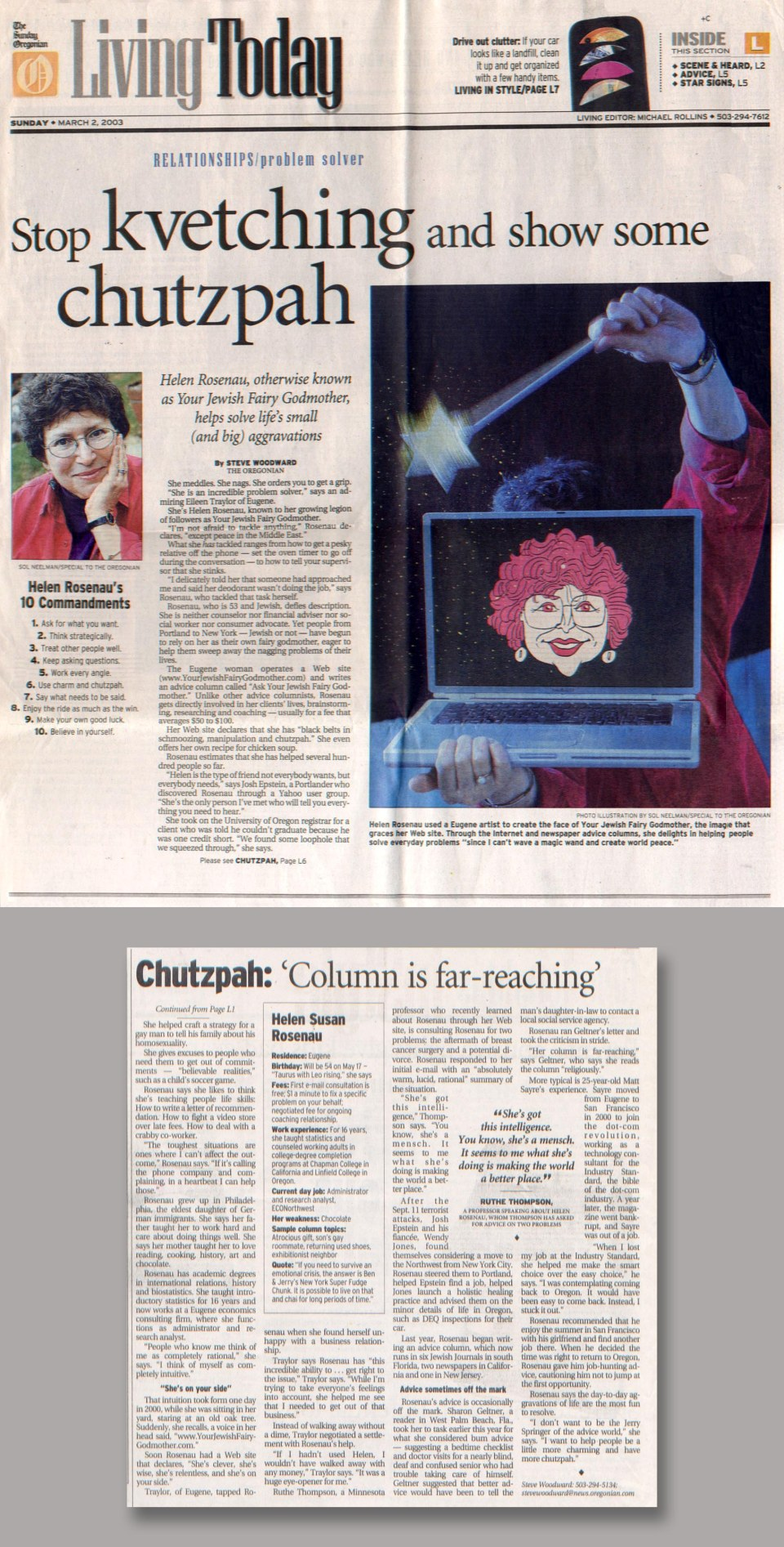 The Oregonian, March 2, 2003: