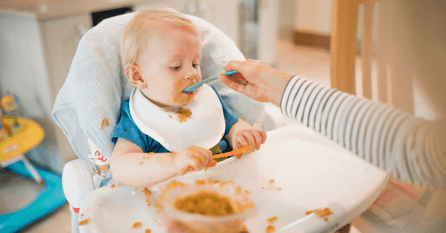 Get simple 9 month old baby food and table food ideas from a pediatric occupational therapist. This is a critical window of time for babies learning to eat. Learn how to maximize it. Includes 14 different 9 month old meal ideas!