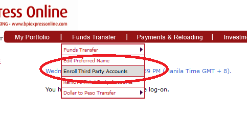 How to Enroll Third Party Account in BPI Express Online