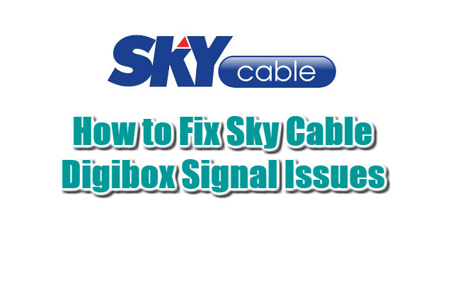How to Fix Sky Cable Digibox Signal Issues