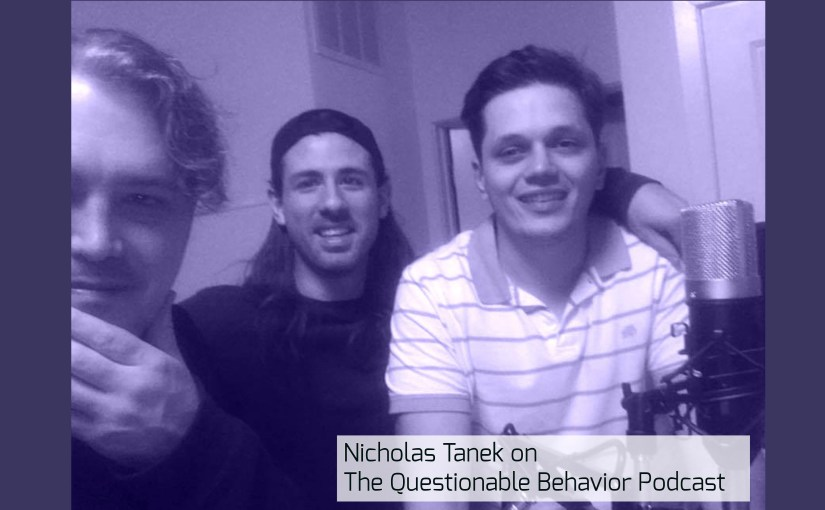 Nicholas Tanek talks KINK on THE QUESTIONABLE BEHAVIOR PODCAST