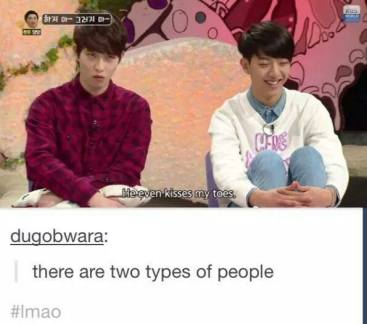 two types of peopel meme