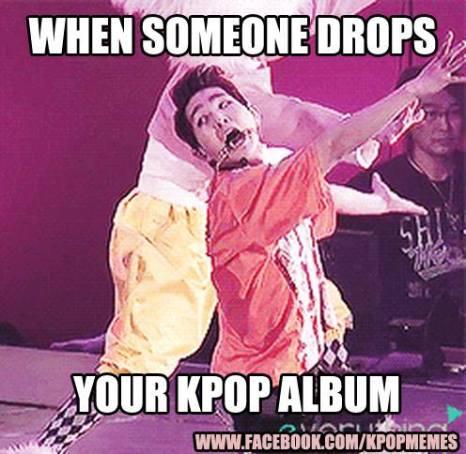 kpop meme album someone drops scream