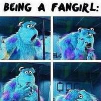 Being a fangirl meme