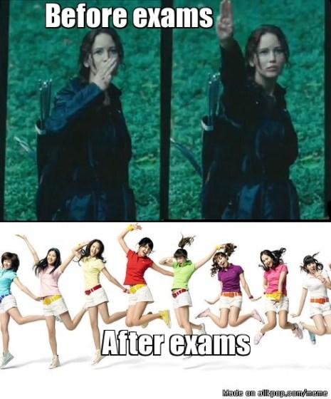 school exams meme