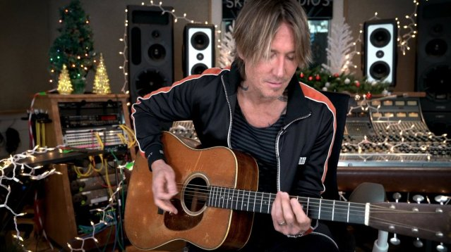 Check Out Keith Urban's Acoustic Rendition Of 'I'll Be Your Santa Tonight'