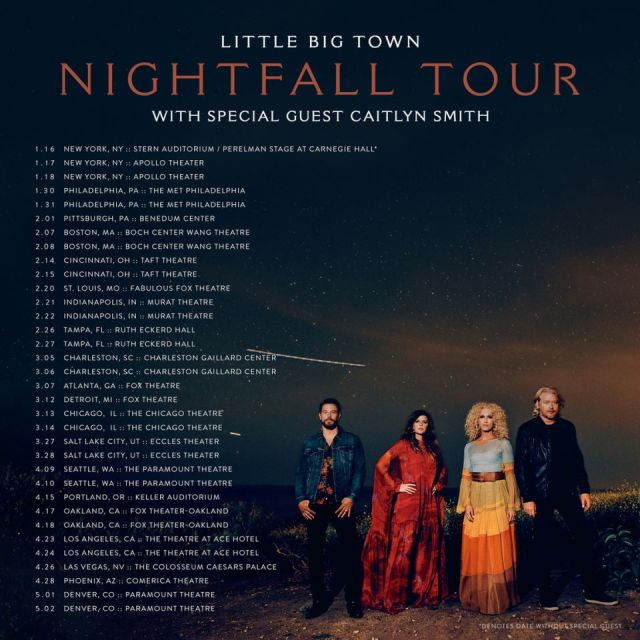 Little Big Town Get Ready To Launch 'Nightfall' Tour Next Week