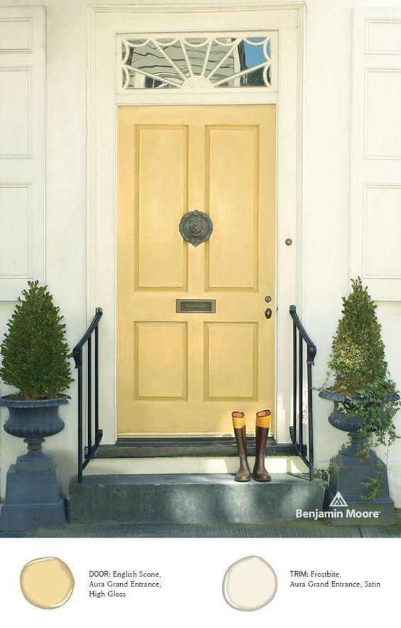 Favorite Front Door Color #1. English Scone Photo Courtesy Of Benjamin Moore