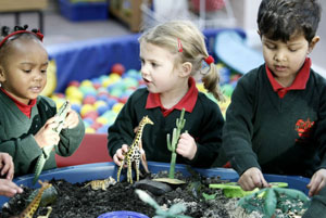 Children playing LifeWay Church preschool