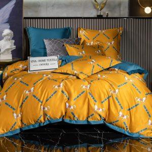 Комплект постельного белья Сатин Роял Тенсель на резинке TSR013
