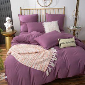Комплект постельного белья Однотонный Сатин на резинке CSR043