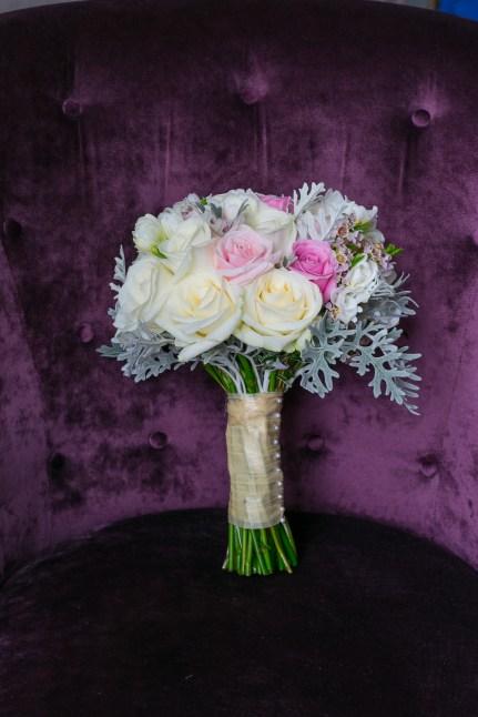 """Brides rose bouquet by """"Your London Florist"""""""
