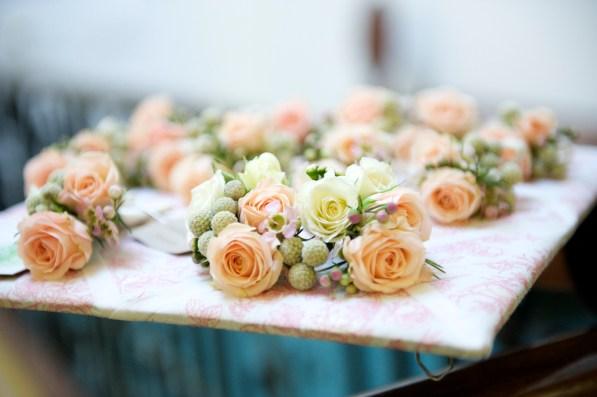 bridesmaids hair flowers