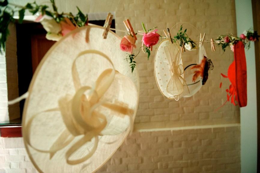 hat hanger flowers