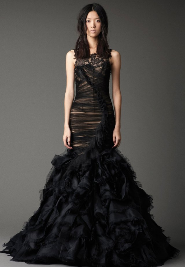 sexy black wedding dress malta