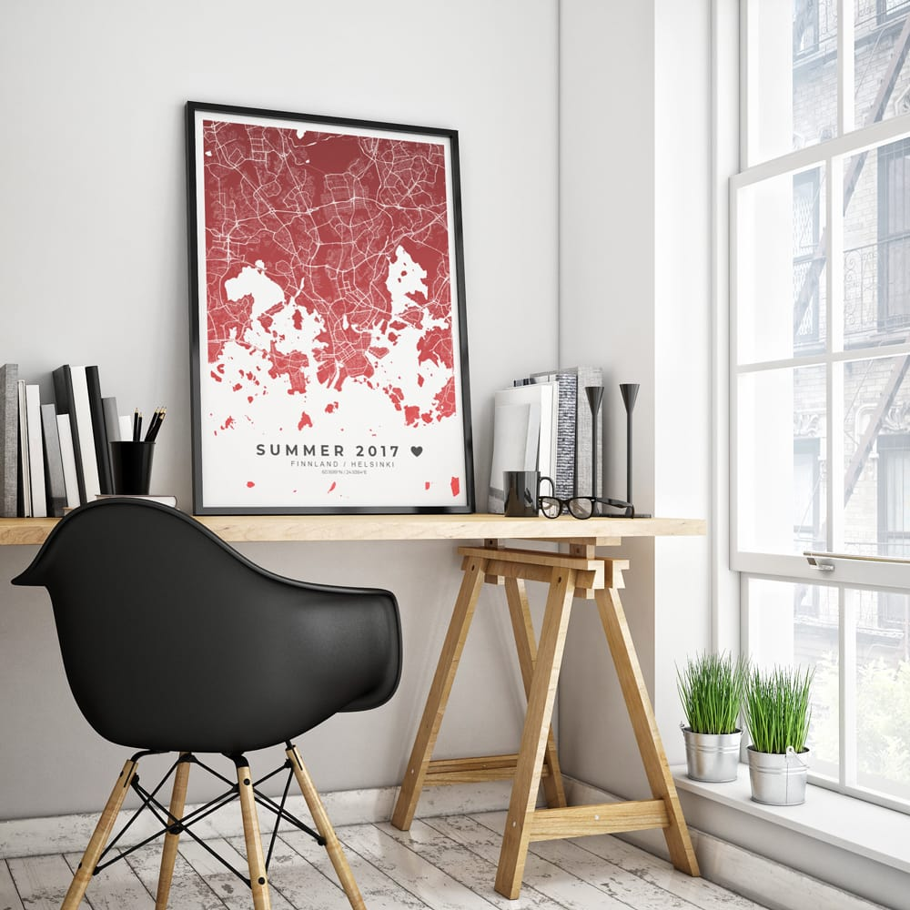 design your own custom map poster