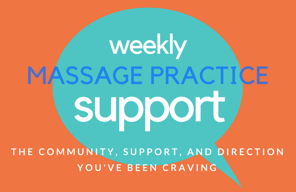 weekly massage practice support