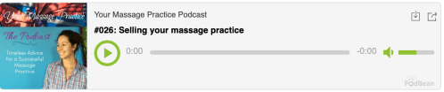selling your massage practice