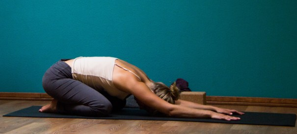 childs pose Yoga for back pain