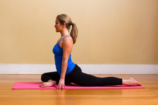 pigeon pose Yoga for back pain