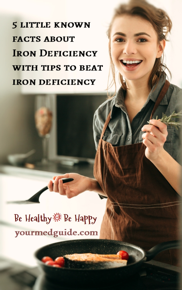 5 little known facts about iron deficiency and tips to beat it. #Irondeficiency #healthyliving