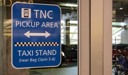 MCO signage inside Arrivals section