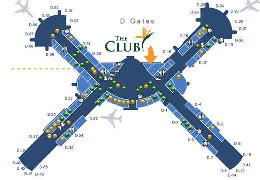 The Club at LAS map