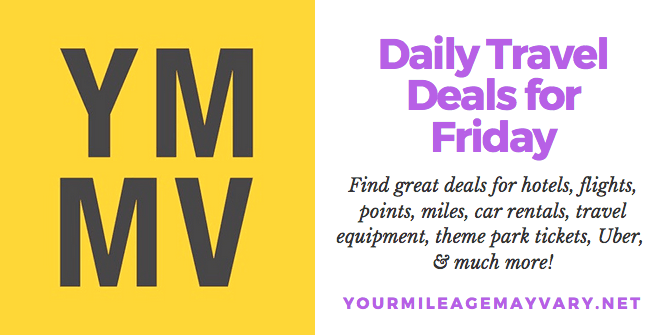 YMMV Travel Deals: Fri., Sept. 21, 2018