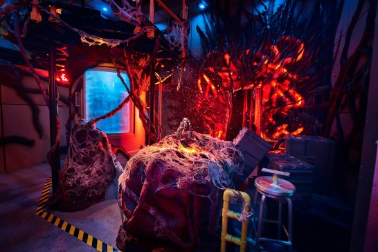 "Today, Universal Studios reveals first look images from the ""Stranger Things"" haunted maze coming to Halloween Horror Nights 2018."