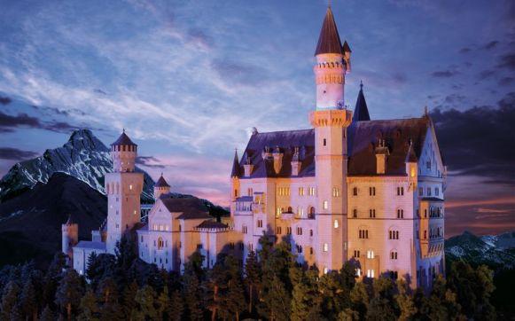 Als eines der Wartzeichen Bayerns darf natürlich auch das Schloss Neuschwarnstein im Wunderland nicht fehlen.