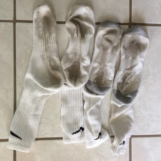 Socks from dirty floor