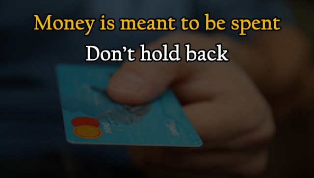 Money is meant to be spent. Don't hold back in Financial Domination
