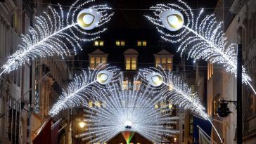 Christmas lights at Bond Street, 2015 | photo via timeout.com