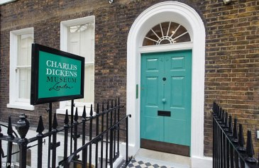 the entrance to the Charles Dickens Museum | photo via dailymail.co.uk