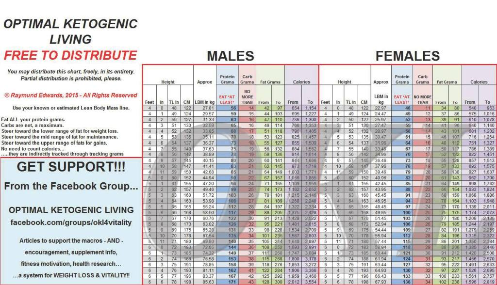 Ketogenic lifestyle - OKL chart