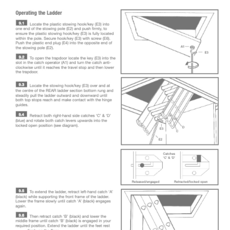 Abru Ladders Consumer Product Installation Instruction Guide Design and Printing