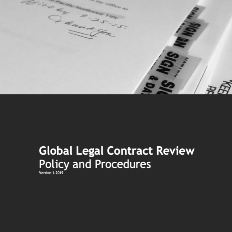 Aramex Global Legal Contract Review Policy and Process Brochure Design