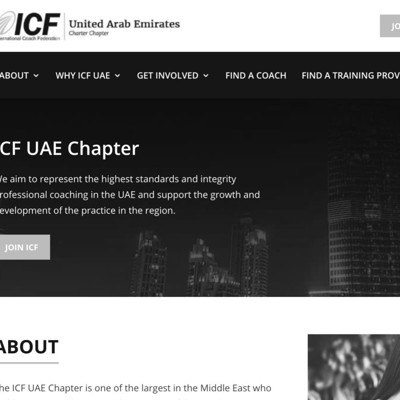 ICF UAE Chapter Website and Marketing Strategy