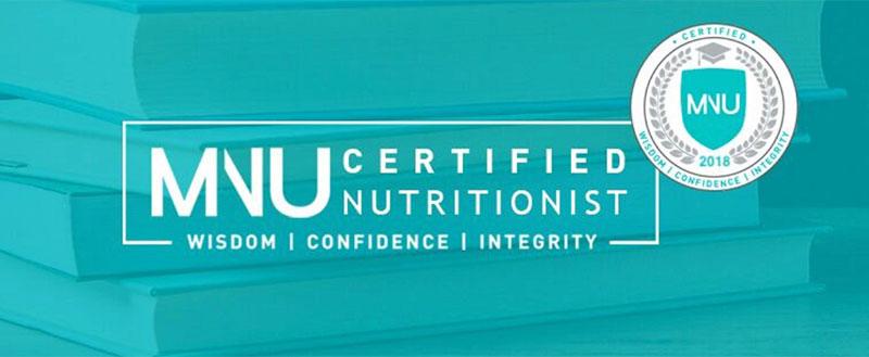 MNU Certified Nutritionist - Mar 2019