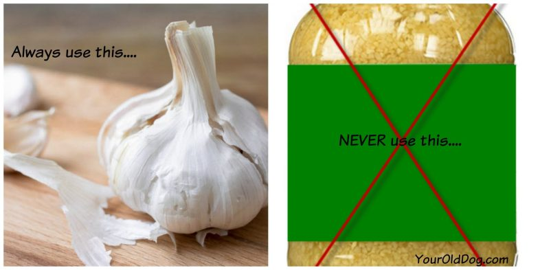 is garlic safe for dogs