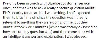 Bluehost complaints