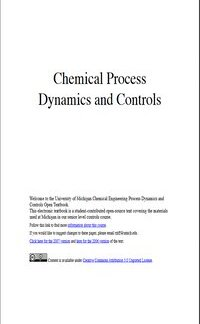Chemical Process Dynamics and Controls