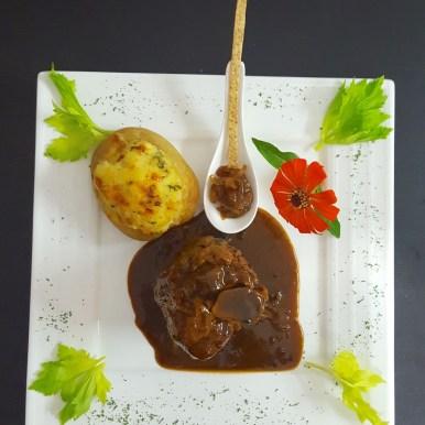 Pork Ossobuco and twice baked potatoes